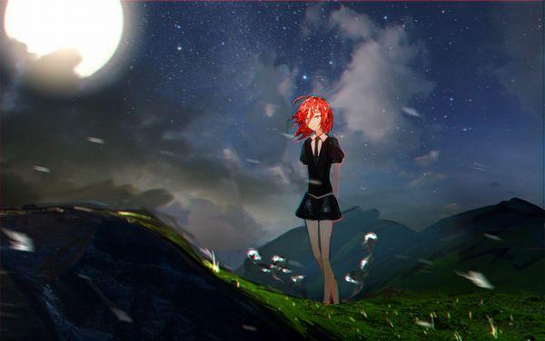 【starrysky】星空と女の子の幻想的な二次画像【IKUZO要素は無い】【33】