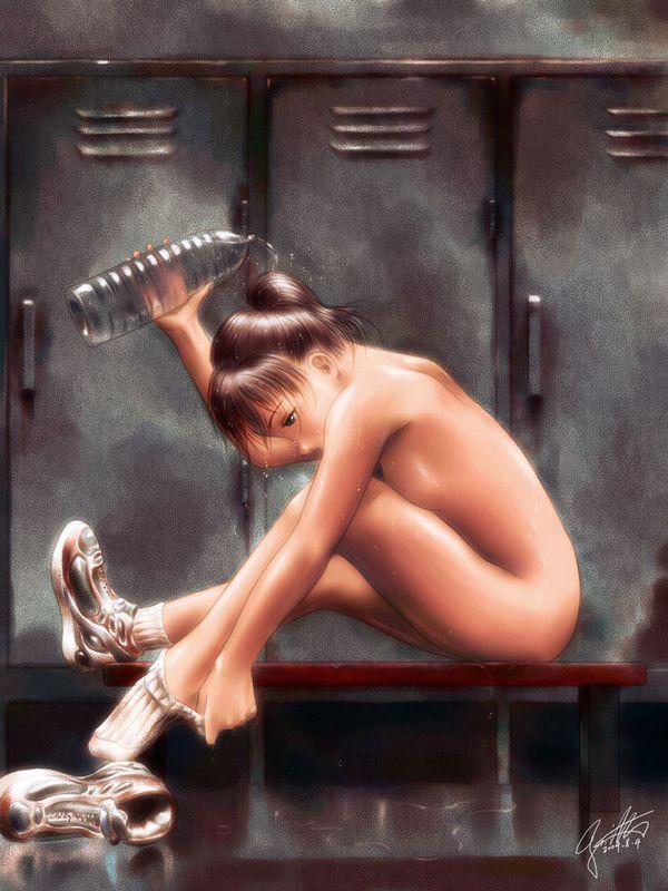 【田代】ロッカーの中に忍び込んで女子更衣室を覗いてる・・・みたいなシチュの二次エロ画像【17】