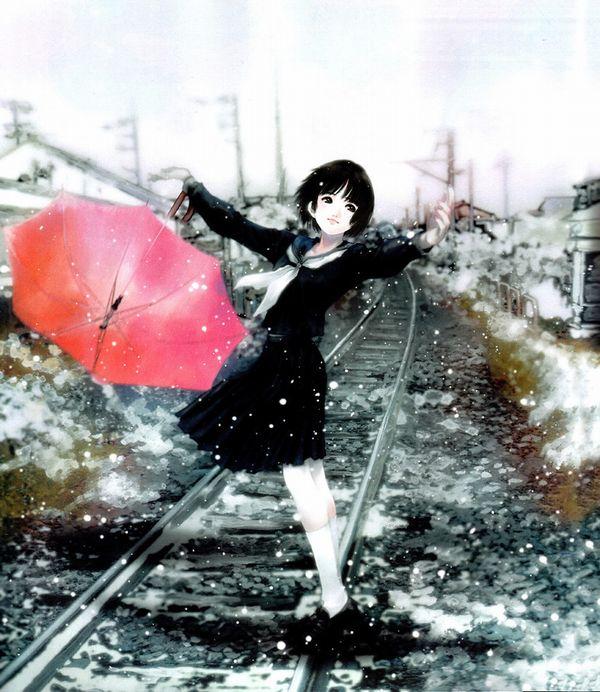 【スタンドバイミー】線路の上を歩く女の子達の二次画像【松本伊代】【6】