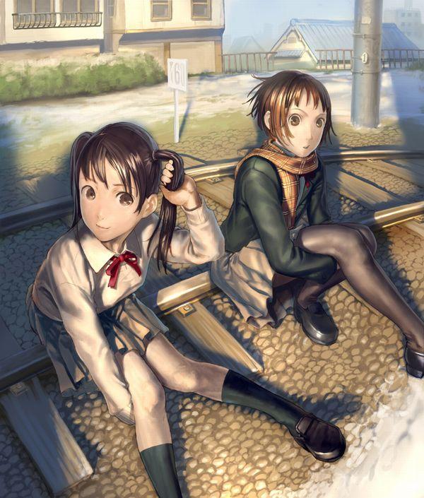 【スタンドバイミー】線路の上を歩く女の子達の二次画像【松本伊代】【8】