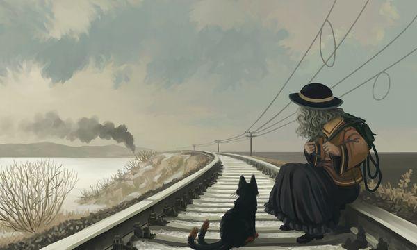【スタンドバイミー】線路の上を歩く女の子達の二次画像【松本伊代】【15】