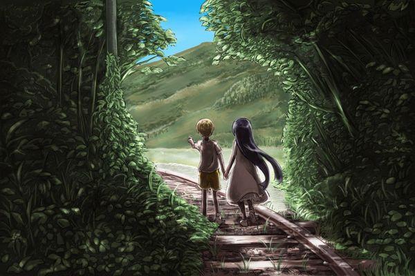 【スタンドバイミー】線路の上を歩く女の子達の二次画像【松本伊代】【19】