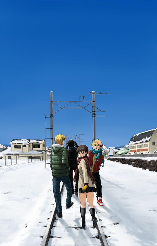 【スタンドバイミー】線路の上を歩く女の子達の二次画像【松本伊代】【20】
