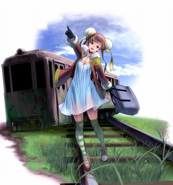 【スタンドバイミー】線路の上を歩く女の子達の二次画像【松本伊代】【24】