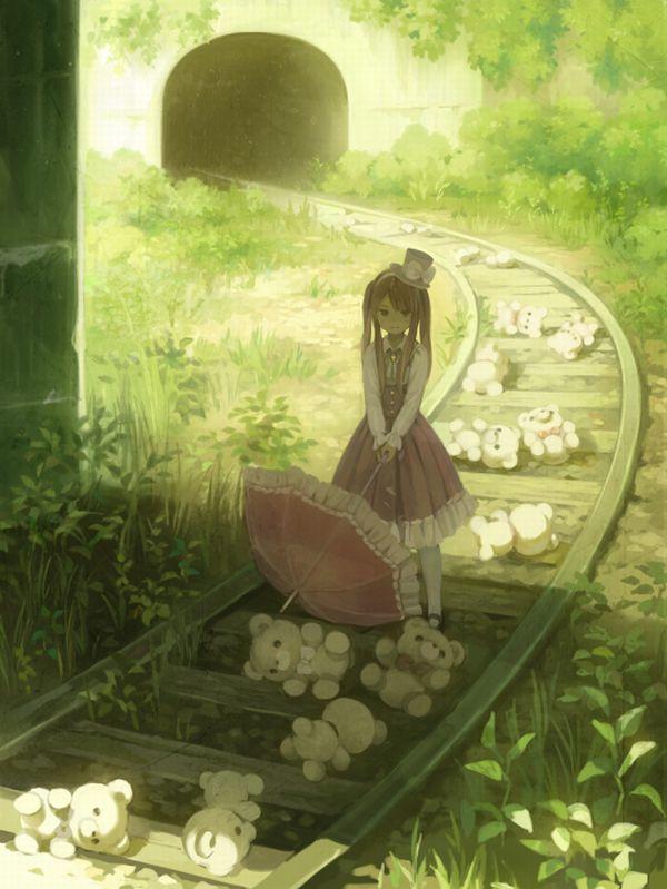 【スタンドバイミー】線路の上を歩く女の子達の二次画像【松本伊代】【26】