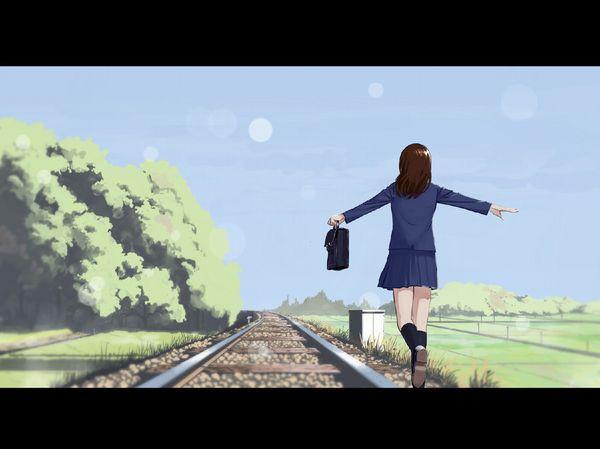 【スタンドバイミー】線路の上を歩く女の子達の二次画像【松本伊代】【35】