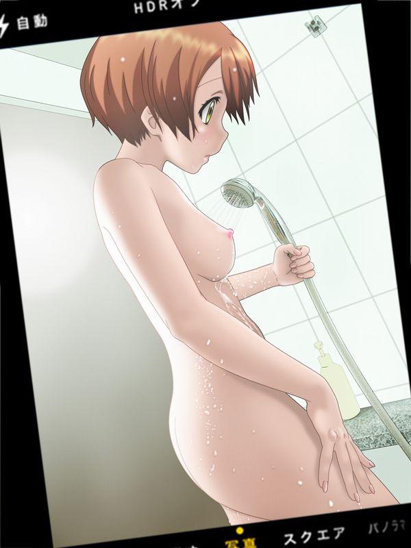 【湯船には入らない派】立ってシャワーを浴びる女子達の二次エロ画像【27】