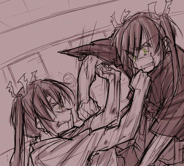 【これはキャットファイトじゃない】ガチでタイマン張ってる女子達の二次エロ画像【10】