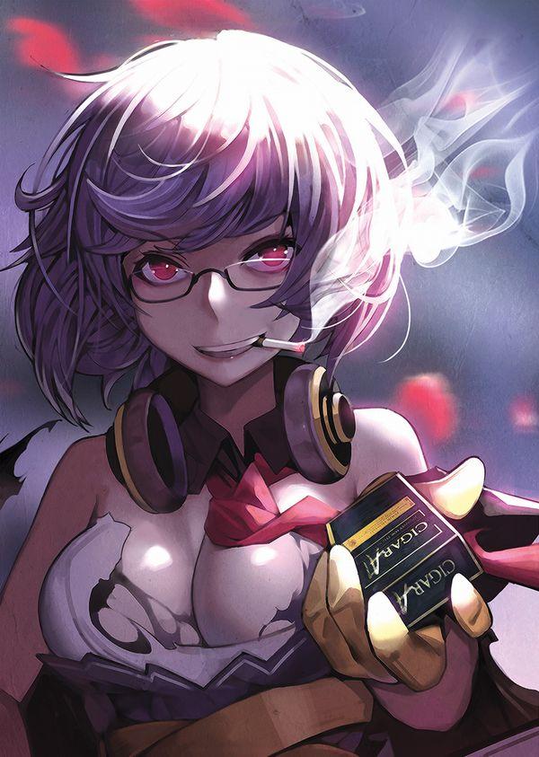 【悲報】とうとうタバコが500円超えるらしいので・・・タバコ吸ってる女子の二次画像【2】