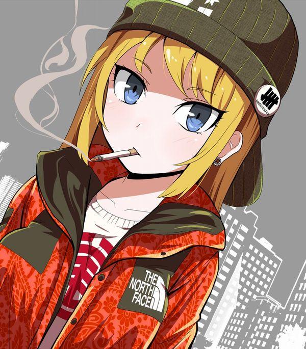 【悲報】とうとうタバコが500円超えるらしいので・・・タバコ吸ってる女子の二次画像【7】
