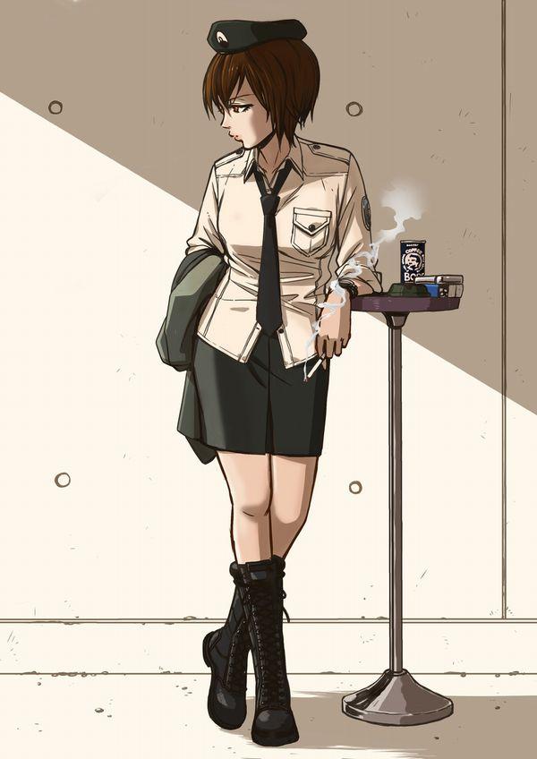 【悲報】とうとうタバコが500円超えるらしいので・・・タバコ吸ってる女子の二次画像【8】