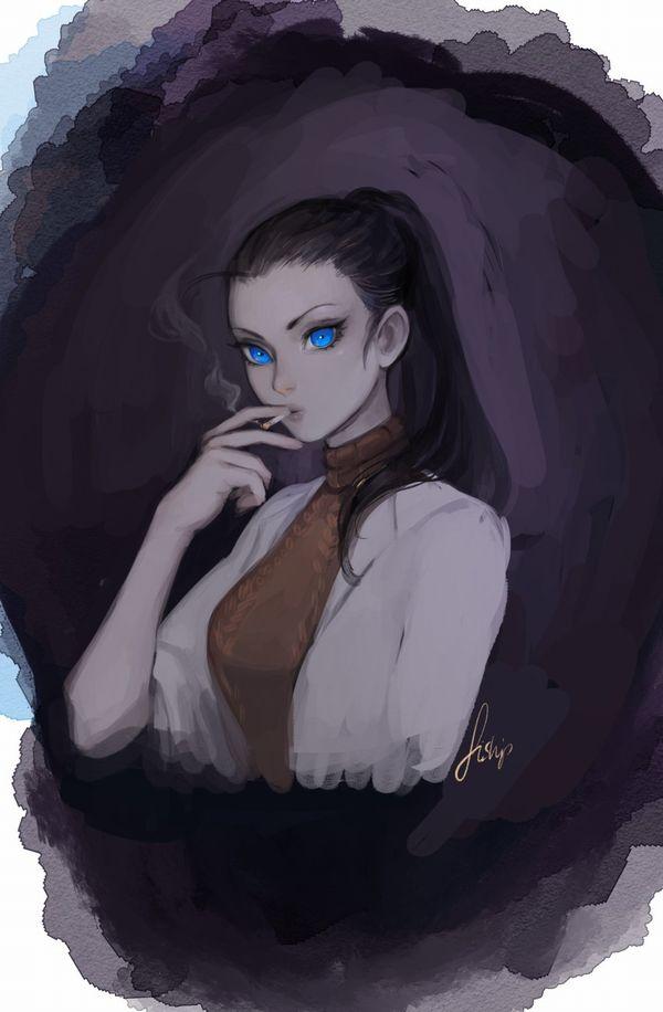 【悲報】とうとうタバコが500円超えるらしいので・・・タバコ吸ってる女子の二次画像【25】