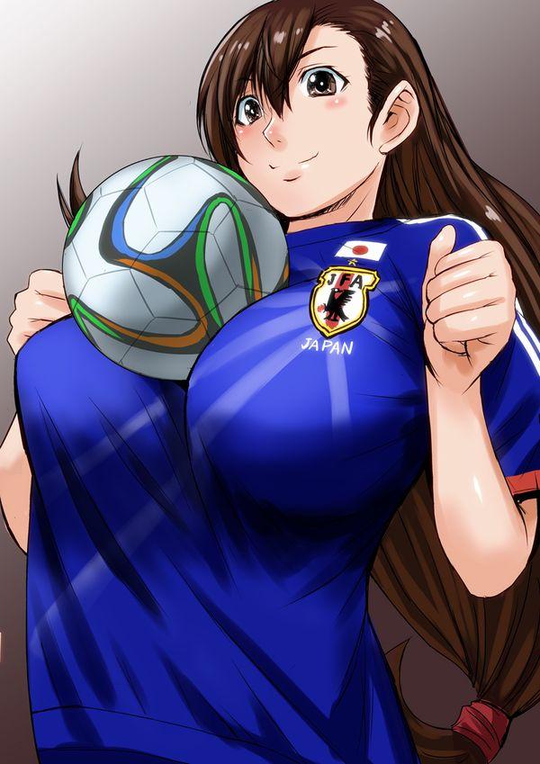 【祝!日本勝利】サッカー日本代表ユニフォームを着た女子達の二次画像【3】