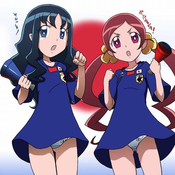 【祝!日本勝利】サッカー日本代表ユニフォームを着た女子達の二次画像【12】