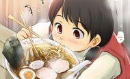 【所謂中華そば】昔懐かしい感じの醤油ラーメンを食べてる女の子達の二次画像