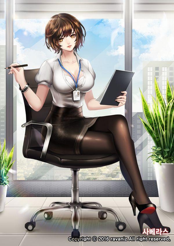 【社外では外すのをお忘れなく】社員証を首から下げてる社会人女性の二次画像【37】