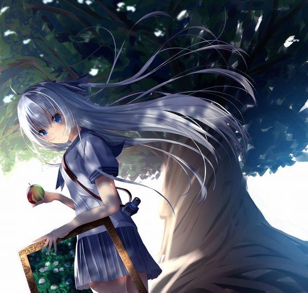【日本ではまず見ない光景】りんごをそのままかじる女の子の二次画像【12】