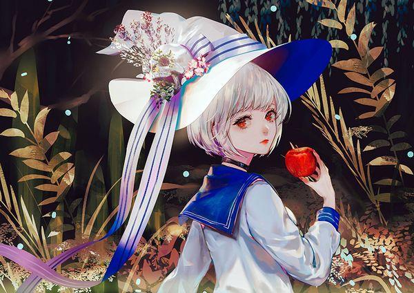 【日本ではまず見ない光景】りんごをそのままかじる女の子の二次画像【19】