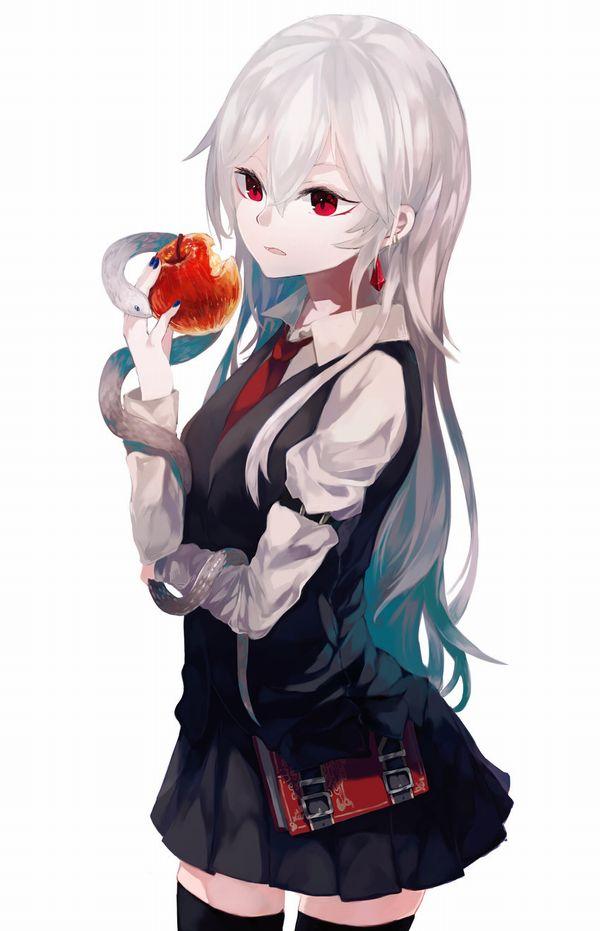 【日本ではまず見ない光景】りんごをそのままかじる女の子の二次画像【24】