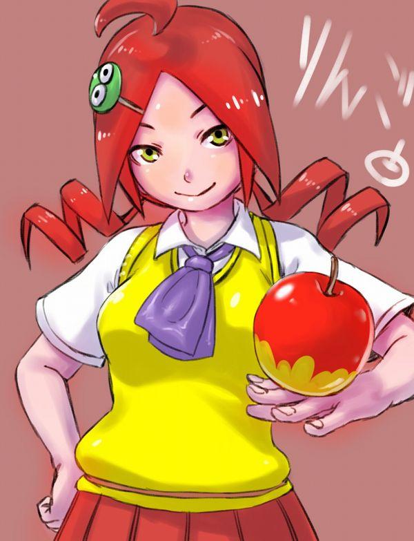 【日本ではまず見ない光景】りんごをそのままかじる女の子の二次画像【35】