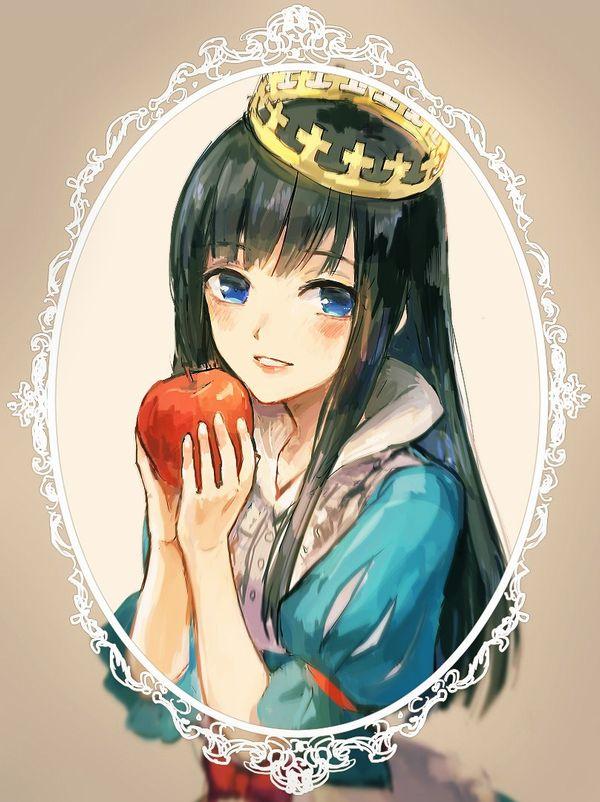 【日本ではまず見ない光景】りんごをそのままかじる女の子の二次画像【36】