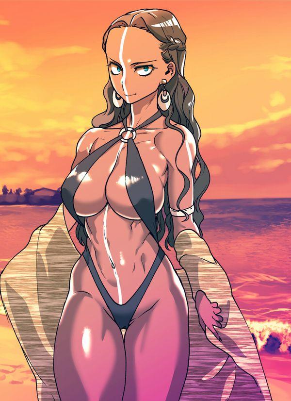【夏だから】褐色肌な水着女子の二次エロ画像【17】
