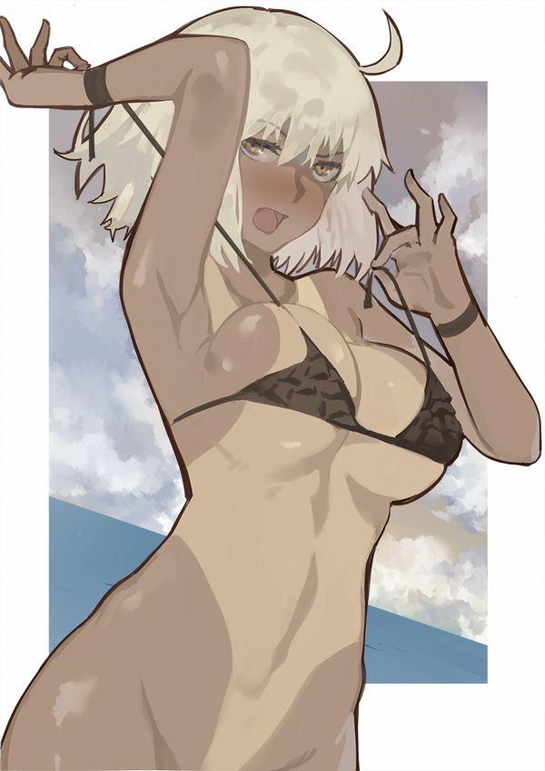 【夏だから】褐色肌な水着女子の二次エロ画像【23】