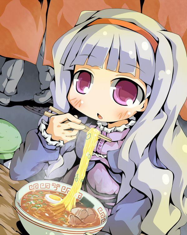 【所謂中華そば】昔懐かしい感じの醤油ラーメンを食べてる女の子達の二次画像【4】