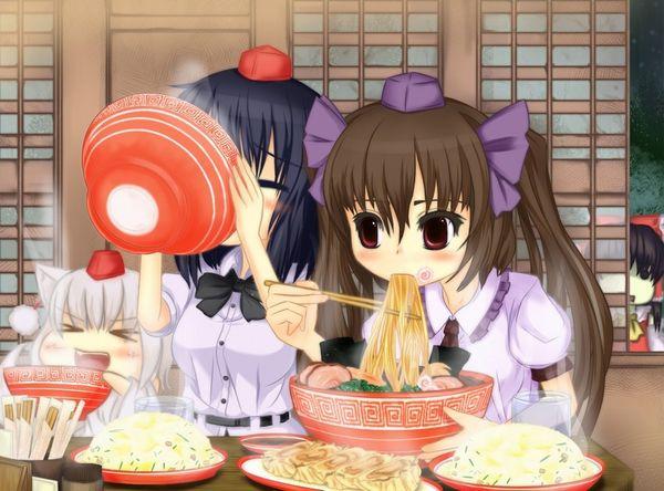 【所謂中華そば】昔懐かしい感じの醤油ラーメンを食べてる女の子達の二次画像【28】