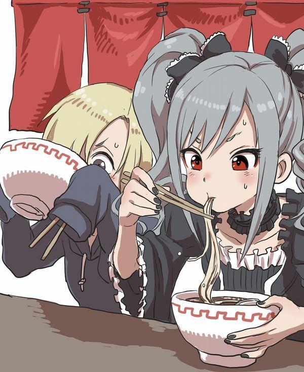 【所謂中華そば】昔懐かしい感じの醤油ラーメンを食べてる女の子達の二次画像【29】