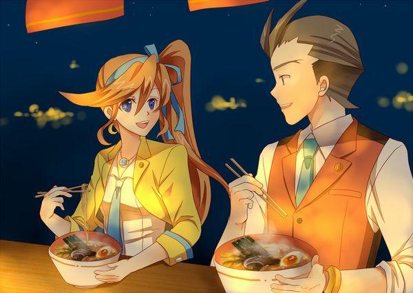 【所謂中華そば】昔懐かしい感じの醤油ラーメンを食べてる女の子達の二次画像【32】
