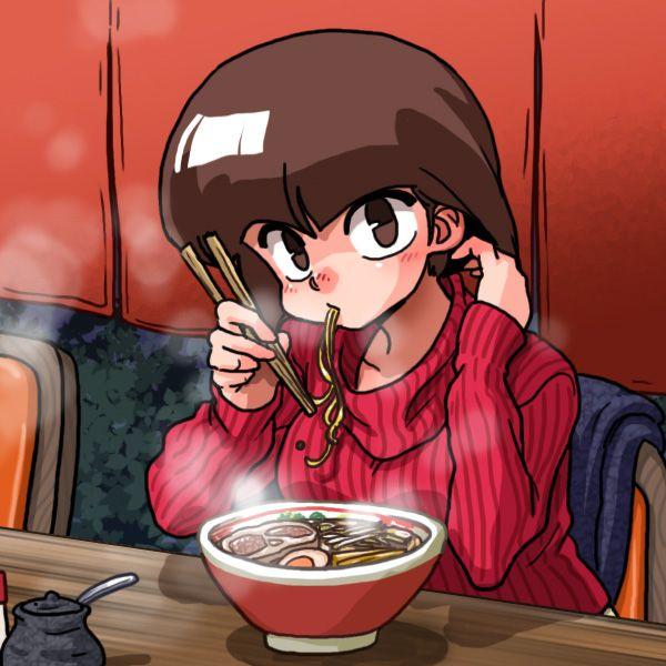 【所謂中華そば】昔懐かしい感じの醤油ラーメンを食べてる女の子達の二次画像【36】