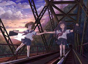 【スタンドバイミー】線路の上を歩く女の子達の二次画像【松本伊代】
