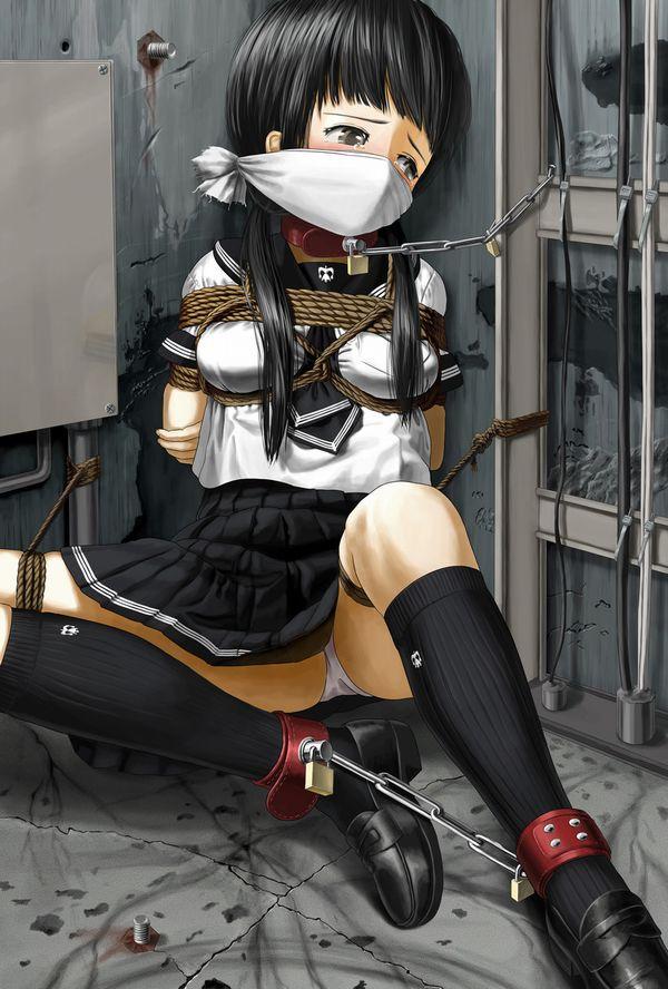 【拷問の直前】鎖に繋がれ絶望の表情を浮かべる女子達の二次エロ画像【2】