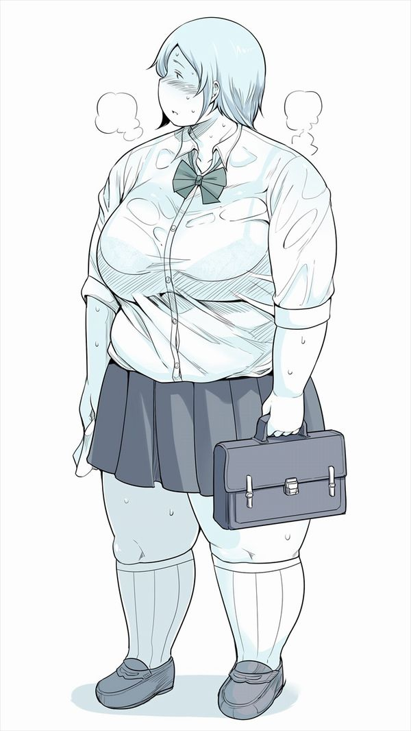【多分余りモテない】デブJKと言うマニア向け属性な少女達の二次エロ画像【40】