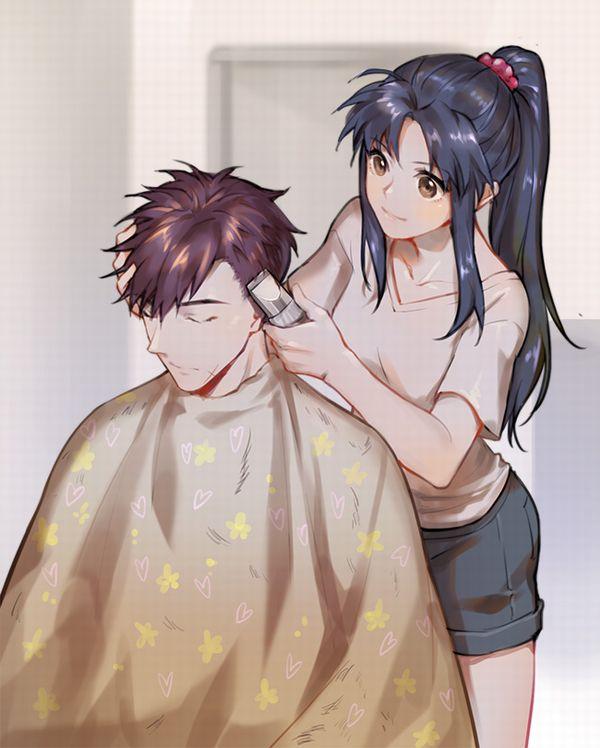 【目指せカリスマ】他人の髪の毛切ってる女の子達の二次画像【2】