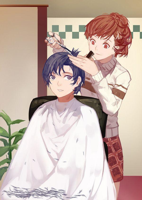 【目指せカリスマ】他人の髪の毛切ってる女の子達の二次画像【7】