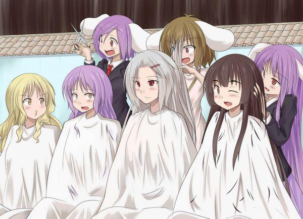 【目指せカリスマ】他人の髪の毛切ってる女の子達の二次画像【8】