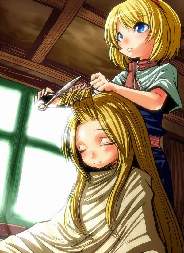 【目指せカリスマ】他人の髪の毛切ってる女の子達の二次画像【9】