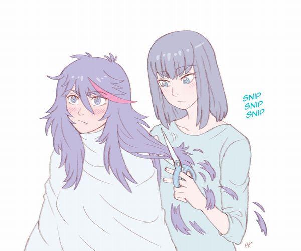 【目指せカリスマ】他人の髪の毛切ってる女の子達の二次画像【20】