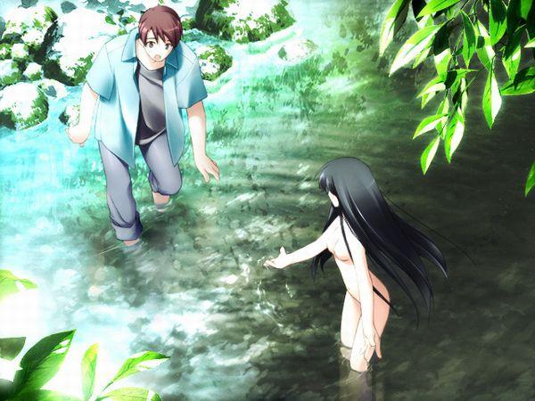 【近所だから】全裸で川遊びしてる女の子達の二次エロ画像【13】