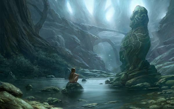 【近所だから】全裸で川遊びしてる女の子達の二次エロ画像【37】