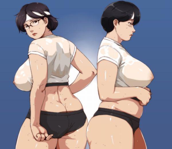 【羞恥プレイ】オバさん・・・いや、お姉さんがブルマ履いてる二次エロ画像【3】
