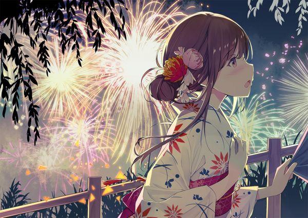 【リア充】デートで花火大会に行きました・・・みたいな二次画像【8】