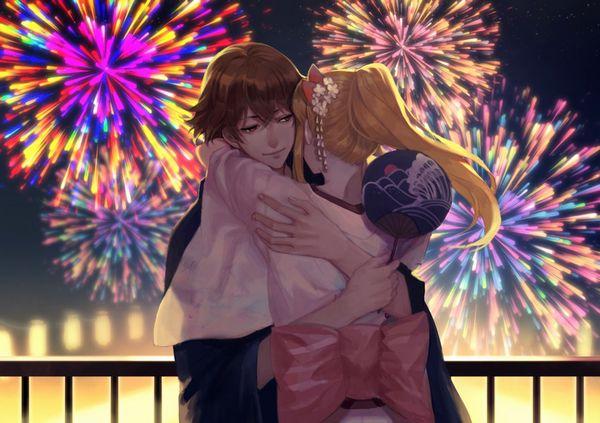 【リア充】デートで花火大会に行きました・・・みたいな二次画像【40】