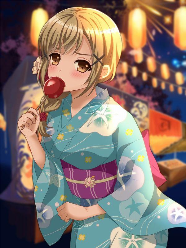 【夏祭りの定番】りんご飴食べてる浴衣姿な女の子達の二次画像【22】