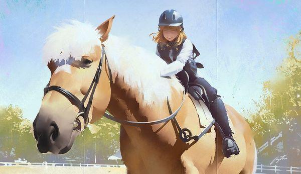 【淑女の嗜み】乗馬を楽しむ女子達の二次画像【32】
