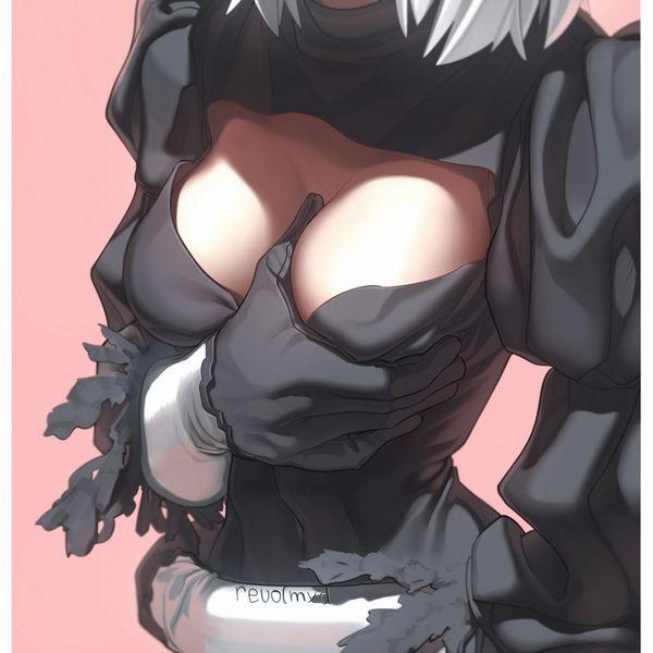 【おっぱい接写】着衣の巨乳をガン見してるような二次エロ画像【23】