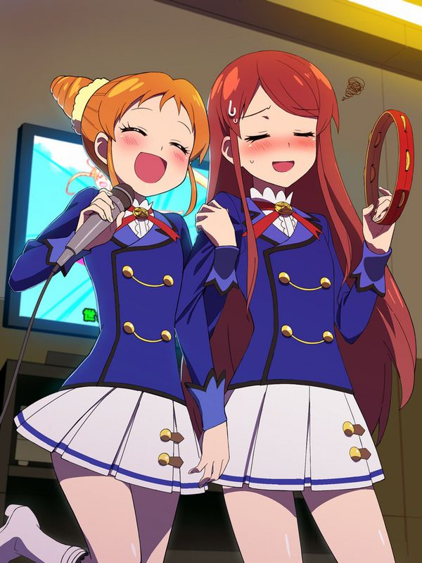 【みんな踊れー】カラオケを楽しむ女子達の二次エロ画像【22】