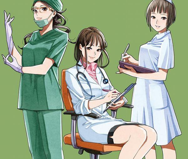 【チャレンジ女医】女性のお医者さんにエッチな看護されてる二次エロ画像【36】